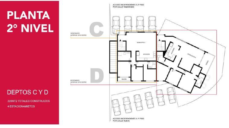 Departamento 3D 2B c/estacionamiento en Parque Las Amapolas