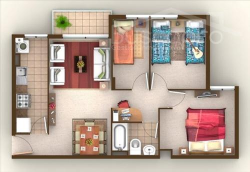 Departamento 3 dormitorios c/estacionamiento en TERRAZAS DE COLLAO