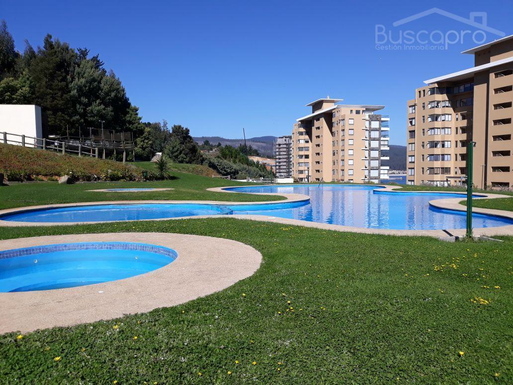 Maravillosa vista, departamento amoblado 2d 100m2 en Condominio Costa Pingueral